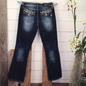 Miss Me Angel Wing Bling Jeans NWT Dark Wash